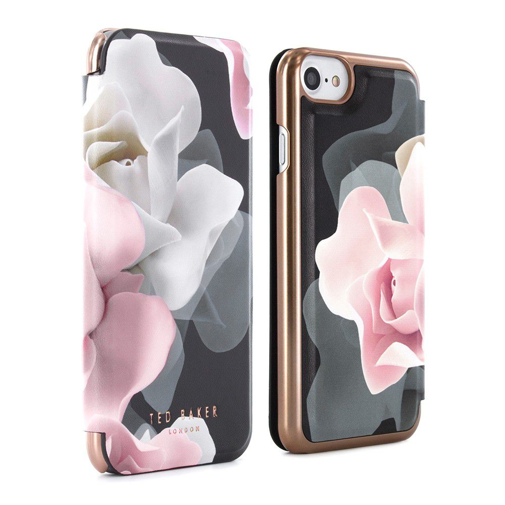 Ted Baker AW16 θήκη προστασίας Mirror Folio για iPhone 7 Knowane Porcelain Rose - Black