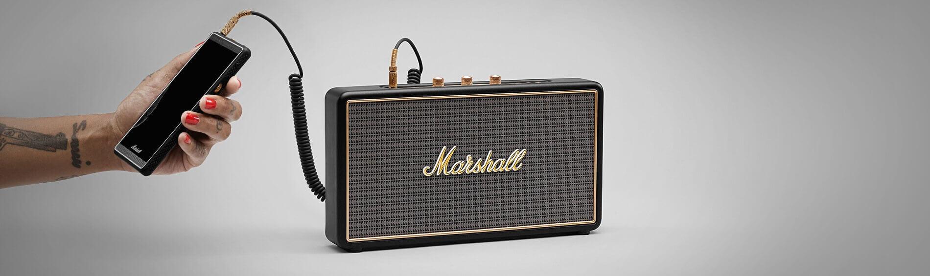 Marshall Stockwell Ασύρματο φορητό ηχείο σε μαύρο χρώμα με κάλυμμα