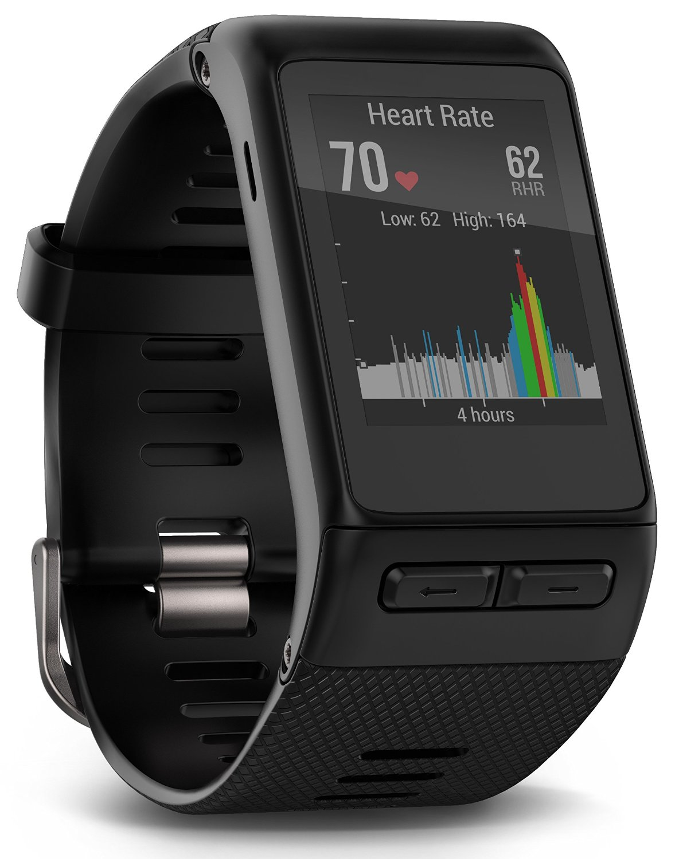 Garmin vivoactive® HR GPS Smartwatch με μέτρηση καρδιακού παλμού από τον καρπό σε μαύρο χρώμα (extra large size)