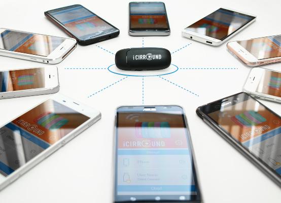 IciRRound iShowDrive Ασύρματο FlashDrive συμβατό με iOS & Android